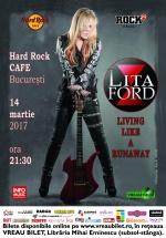 Concert Lita Ford la Hard Rock Cafe din Bucureşti