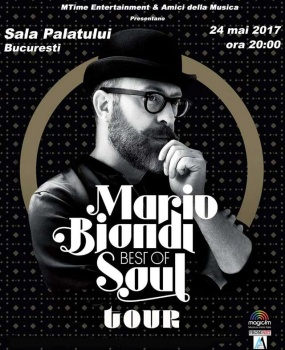Concert Mario Biondi la Sala Palatului din Bucureşti – ANULAT