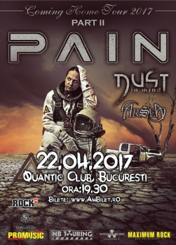 Concert Pain în club Quantic din Bucureşti