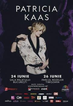 Concerte Patricia Kaas la Bucureşti (Sala Palatului) şi Timişoara (Parcul Rozelor)