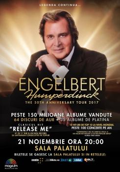 Concert Engelbert Humperdinck la Sala Palatului din Bucureşti – ANULAT