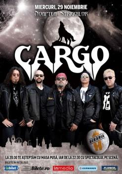 """Concert CARGO – """"Noaptea Strigoilor"""" la Berăria H din Bucureşti"""