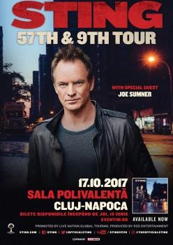 Concert Sting la Sala Polivalentă din Cluj-Napoca