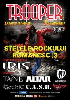 """Concert Trooper – """"Stelele Rockului Românesc part. 3"""" la Arenele Romane din Bucureşti"""