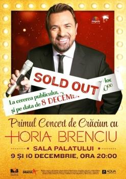 Concerte de Crăciun Horia Brenciu la Sala Palatului din Bucureşti