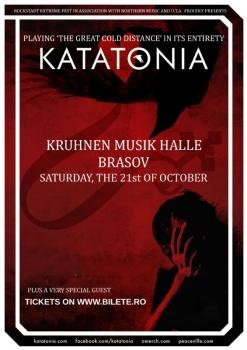 Concert Katatonia la Kruhnen Musik Halle din Braşov