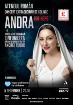 """Concert extraordinar de colinde – """"Andra For Hope"""" la Ateneul Român din Bucureşti"""