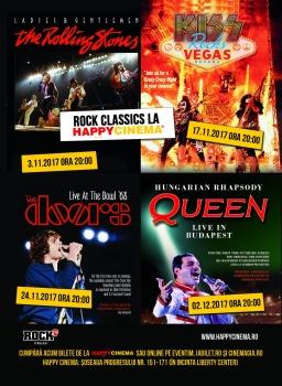 Concerte Rock Classics la Happy Cinema din Bucureşti
