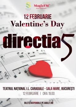 """Concert direcţia 5 – """"Valentine's Day"""" la Teatrul Naţional din Bucureşti"""