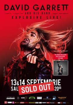 """Concert David Garrett – """"Explosive Live!"""" la Sala Palatului din Bucureşti"""