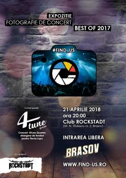 Concert 4Tune Quartet în cadrul expoziţiei caritabile #FIND_US, în club Rockstadt din Braşov