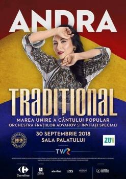 """Concert Andra – """"Tradiţional"""" la Sala Palatului din Bucureşti"""