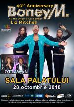 Concert aniversar Boney M. feat. Liz Mitchell la Sala Palatului din București