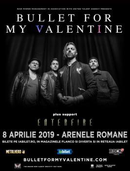 Concert Bullet For My Valentine la Arenele Romane din Bucureşti