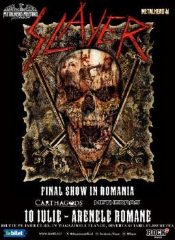 Concert Slayer la Arenele Romane din Bucureşti