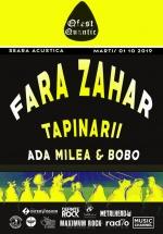 Concert Ada Milea și Bobo, Țapinarii, Fără Zahăr în Club Quantic din Bucureşti