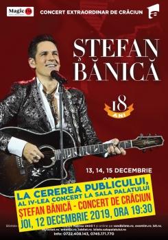 Concerte de Crăciun cu Ştefan Bănică la Sala Palatului din Bucureşti