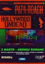 Concert Papa Roach şi Hollywood Undead la Arenele Romane din Bucureşti